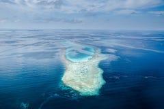 Het eilandmening van de Maldiven van lucht royalty-vrije stock foto's
