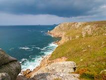 Het Eind Cornwall van het land Stock Fotografie