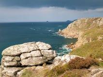 Het Eind Cornwall van het land Stock Foto