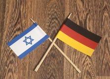 Het eind Israel Flag van Duitsland Royalty-vrije Stock Afbeelding