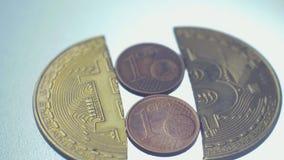 Het Eind van de bellenuitbarsting van Bitcoin Bitcoin stock footage
