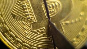 Het Eind van de bellenuitbarsting van Bitcoin Bitcoin stock videobeelden