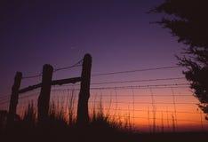 Het Eind van de dag op het Landbouwbedrijf stock foto's
