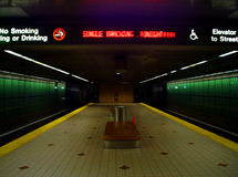 Het eind van de metro stock foto's