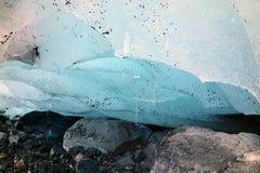 Het eind van een gletsjer in Alaska Stock Foto's