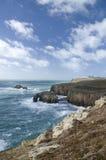 Het eind van het land, Cornwall. Engeland Stock Foto's
