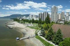 Het Eind van het Westen van Vancouver Stock Foto