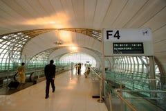 Het eind wachtende gebied van de luchthaven Stock Afbeelding