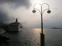 Het einde van de cruisereis langs Royalty-vrije Stock Fotografie