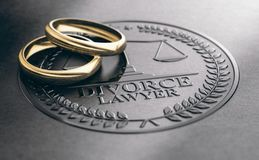 Het einde van een Huwelijk, Scheidingsadvocaat Concept royalty-vrije illustratie