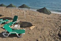 Het einde van een stranddag Stock Foto