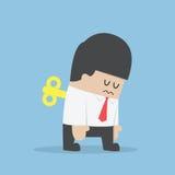 Het Eindesleutel van zakenmanWith in Zijn Rug Stock Foto