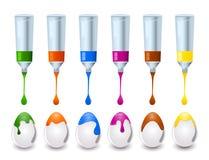 Het paasei van de kleur Stock Afbeelding