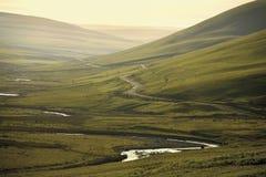 Het elan gebied uit het Cambrium van valleibergen van opmerkelijke natuurlijke B Royalty-vrije Stock Fotografie
