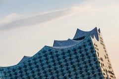 Het Elbphilharmonie-gebouw in de haven van Hamburg Stock Afbeelding
