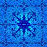 Het elegante Blauwe Abstracte Malplaatje Achtergrond van het Ontwerp Stock Foto's