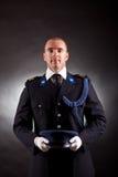 Het elegante militair eenvormig dragen Stock Afbeeldingen