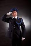 Het elegante militair eenvormig dragen Royalty-vrije Stock Afbeeldingen