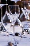 Het elegante restaurantlijst plaatsen Stock Fotografie
