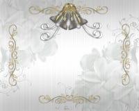 Het elegante satijn van de Uitnodiging van het huwelijk Royalty-vrije Stock Fotografie