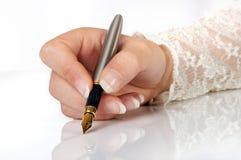 Het elegante schrijven Stock Fotografie