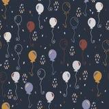 Het elegante Vectorpatroon van Partijballons royalty-vrije illustratie