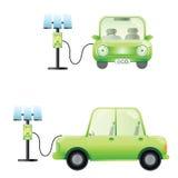 Het elektrische auto elektrische auto laden Stock Foto