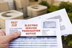 Het elektrische Bericht van de de Dienstbeëindiging royalty-vrije stock foto