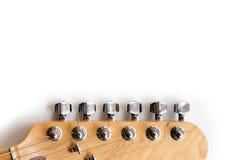 Het elektrische detail van het gitaarasblok Stock Afbeeldingen