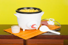 Het elektrische Kooktoestel van de Rijst stock foto's