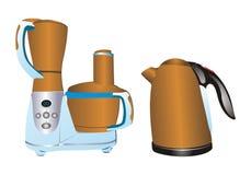 Het elektrische materiaal van de keuken stock illustratie
