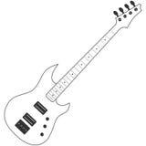 Het elektrische pictogram van de gitaarlijn Stock Foto