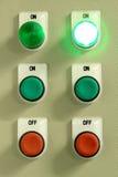 Het elektro Kabinet van de Controle. Stock Fotografie