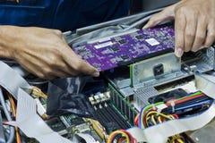 Het elektronische bevestigen Stock Fotografie