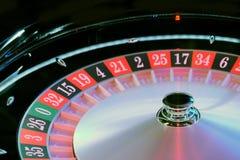 Het elektronische casino het spinnen close-up van het roulettewiel Royalty-vrije Stock Afbeeldingen