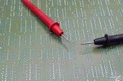 Het elektronische materiaal van de ingenieurstest Royalty-vrije Stock Foto