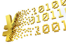 Het elektronische symbool van de geldYen Royalty-vrije Stock Foto
