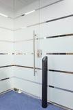 Het elektronische systeem van het deurslot stock foto