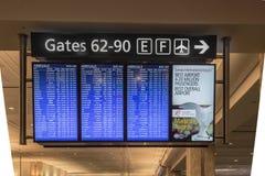 Het elektronische Teken van de Luchtvaartlijnaankomst Royalty-vrije Stock Afbeeldingen