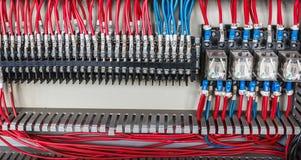 Het elektrosysteem van de controledraad royalty-vrije stock afbeelding
