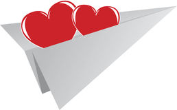 Het element van de Dag van de valentijnskaart van groetkaart Stock Foto's