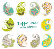 Het element van de tatoegeringshenna Royalty-vrije Stock Fotografie