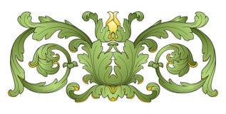 Het element van het de decoratieontwerp van de bloem Royalty-vrije Stock Foto's