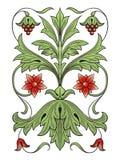 Het element van het de decoratieontwerp van de bloem Royalty-vrije Stock Afbeelding