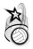 Het element van het de sportontwerp van het volleyball Royalty-vrije Stock Fotografie