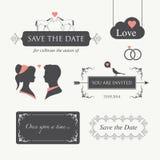 Het element van het de uitnodigingsontwerp van het huwelijk   royalty-vrije illustratie