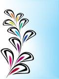 Het element van het ontwerp op blauwe en witte achtergrond Stock Afbeelding