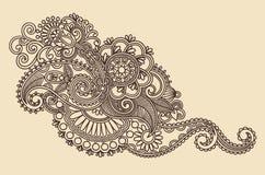 Het Element van het Ontwerp van de henna stock illustratie
