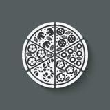Het element van het pizzaontwerp Stock Foto