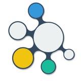 Het Elementen Vlak Vectorontwerp van Infographicmetaball Royalty-vrije Stock Foto's